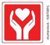 heart care vector | Shutterstock .eps vector #43870891