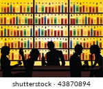 people in bar vector | Shutterstock .eps vector #43870894