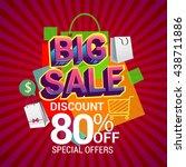 big sale discount 80  off...   Shutterstock .eps vector #438711886