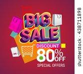 big sale discount 80  off... | Shutterstock .eps vector #438711898