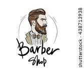 logo for the barber shop.... | Shutterstock .eps vector #438713938