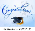 graduation congratulations with ... | Shutterstock .eps vector #438715129