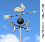 Ancient Weathervane With Cock...