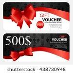 gift voucher template for your...   Shutterstock .eps vector #438730948