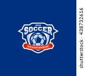 modern vector soccer... | Shutterstock .eps vector #438732616