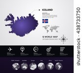 iceland map vector illustration | Shutterstock .eps vector #438733750