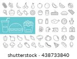 food icons set. vector... | Shutterstock .eps vector #438733840