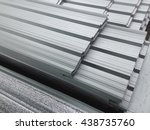 some focus of water on metal... | Shutterstock . vector #438735760