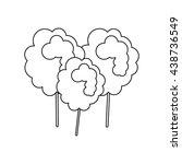sugar food design.  cotton... | Shutterstock .eps vector #438736549