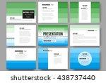 set of 9 vector templates for... | Shutterstock .eps vector #438737440