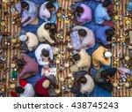 communal charity iftar...   Shutterstock . vector #438745243
