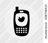mobile technology design  | Shutterstock .eps vector #438748414