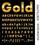 gold letters | Shutterstock .eps vector #438751990