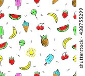 seamless pattern of colored... | Shutterstock .eps vector #438755299
