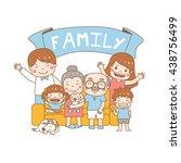 happy family day vector  ... | Shutterstock .eps vector #438756499
