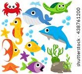 Sea Life Vector Illustration
