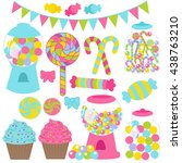 illustration of candies set | Shutterstock .eps vector #438763210