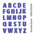 violet fabric knitted alphabet. ... | Shutterstock . vector #438765034