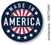 made in america vector. spot... | Shutterstock .eps vector #438771490