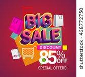 big sale discount 85  off... | Shutterstock .eps vector #438772750