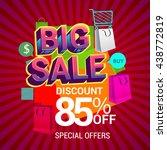 big sale discount 85  off...   Shutterstock .eps vector #438772819