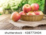 Organic Apples In Basket In...
