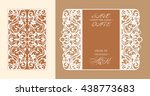 wedding invitation or greeting... | Shutterstock .eps vector #438773683
