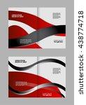 abstract wavy bi fold brochure... | Shutterstock .eps vector #438774718