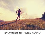 healthy young woman trail... | Shutterstock . vector #438776440
