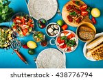 beautifully decorated table... | Shutterstock . vector #438776794