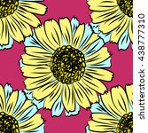 seamless floral vector... | Shutterstock .eps vector #438777310