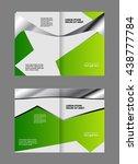 leaflet template design  | Shutterstock .eps vector #438777784