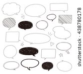 set of hand drawn speech... | Shutterstock .eps vector #438780178