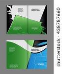 business brochure flyer... | Shutterstock .eps vector #438787660