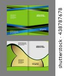 corporate business brochure... | Shutterstock .eps vector #438787678