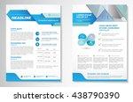 vector brochure flyer design... | Shutterstock .eps vector #438790390