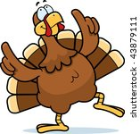 turkey dancing | Shutterstock . vector #43879111