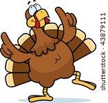 turkey dancing | Shutterstock . vector #43879111