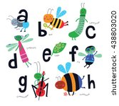 vector alphabet for children....   Shutterstock .eps vector #438803020