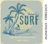 surf illustration   t shirt... | Shutterstock .eps vector #438812614