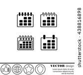web line icon. calendar | Shutterstock .eps vector #438816898