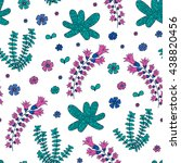 underwater seamless pattern... | Shutterstock .eps vector #438820456