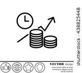 web line icon. business idea ... | Shutterstock .eps vector #438825448