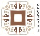circular pattern of zodiac... | Shutterstock .eps vector #438829993
