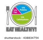 healthy nutrition food. health... | Shutterstock .eps vector #438834754