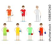 set of sporty boys isolated on... | Shutterstock .eps vector #438839260