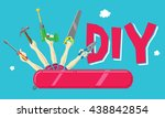do it yourself concept  swiss... | Shutterstock .eps vector #438842854