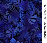 seamless tropical pattern with... | Shutterstock .eps vector #438849028