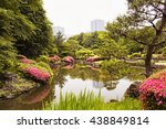 view of artificial lake in... | Shutterstock . vector #438849814