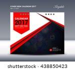 red cover desk calendar 2017... | Shutterstock .eps vector #438850423